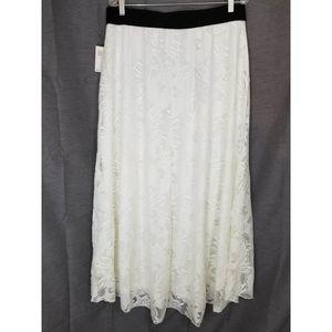 Boho Lace Maxi Shirt LuLaRoe Fully Lined New